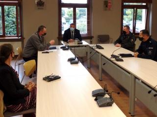 Posiedzenie Powiatowego Zespołu Zarządzania Kryzysowego, autor: Starostwo Powiatowe w Raciborzu